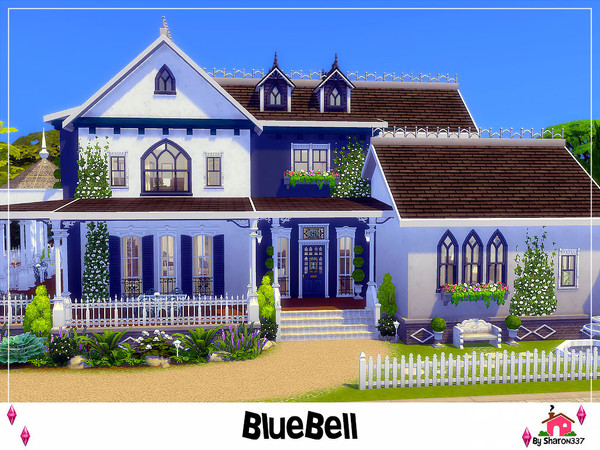 Sims 4 BlueBell house by sharon337 at TSR