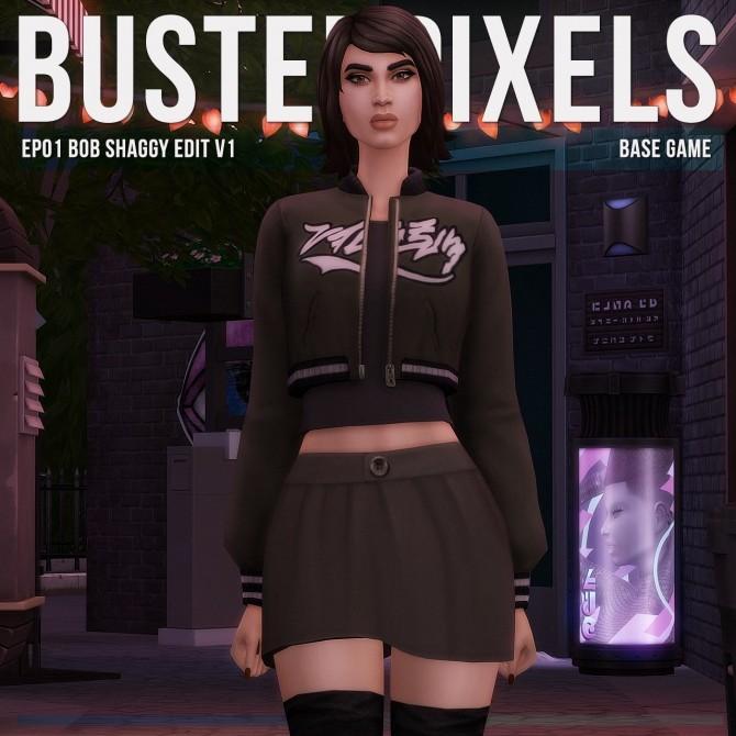 EP01 Bob Shaggy Hair Edit v1 at Busted Pixels image 7412 670x670 Sims 4 Updates