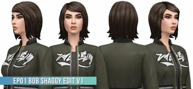 EP01 Bob Shaggy Hair Edit v1 at Busted Pixels image 7512 670x310 Sims 4 Updates