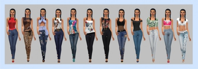 STRAIGHT LEG PANTS & TOP at Sims4Sue image 763 670x235 Sims 4 Updates