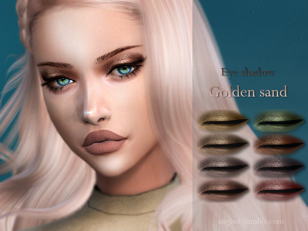 Sims 4 Eye shadow Golden sand by ANGISSI at TSR