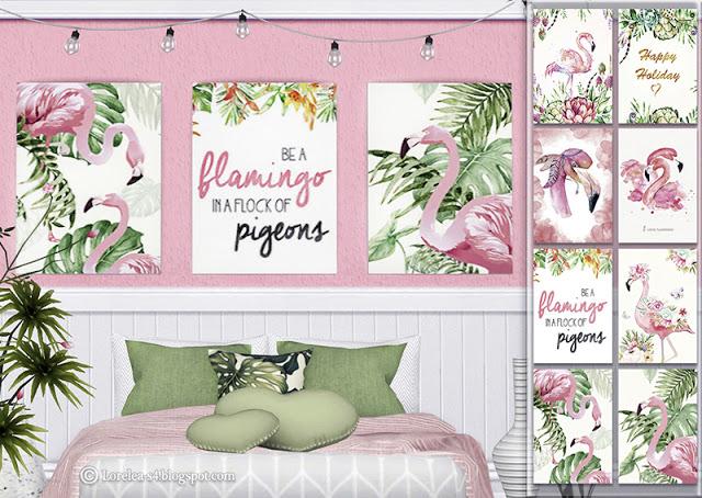 Sims 4 Flamingo posters at Lorelea