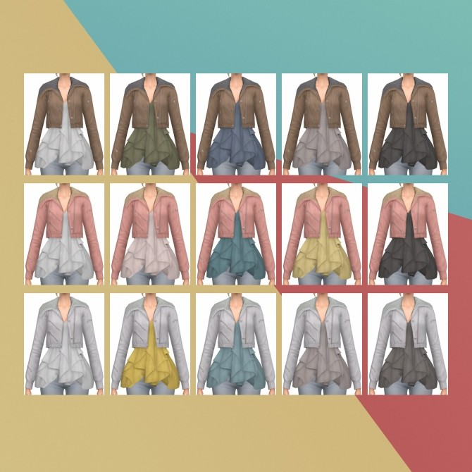Trend Ruffle Jacket S3 Conversion at Busted Pixels image 7911 670x670 Sims 4 Updates