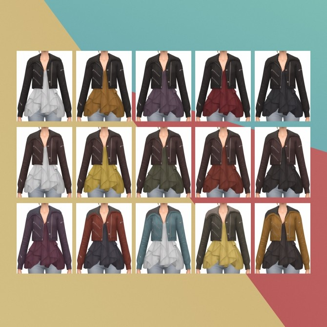 Trend Ruffle Jacket S3 Conversion at Busted Pixels image 8010 670x670 Sims 4 Updates
