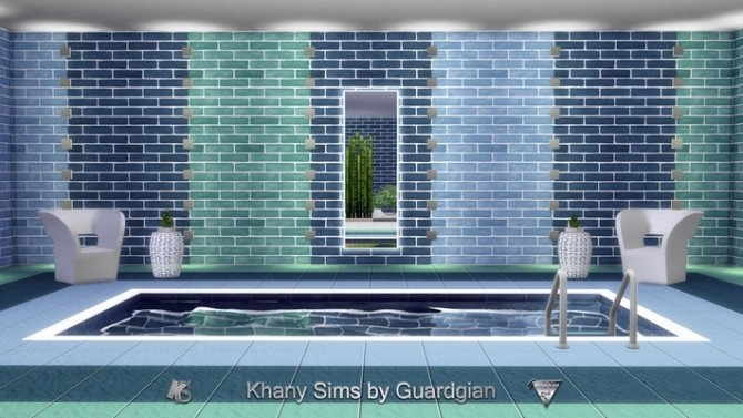 Sims 4 Rainbow set (matching walls and floors) by Guardgian at Khany Sims
