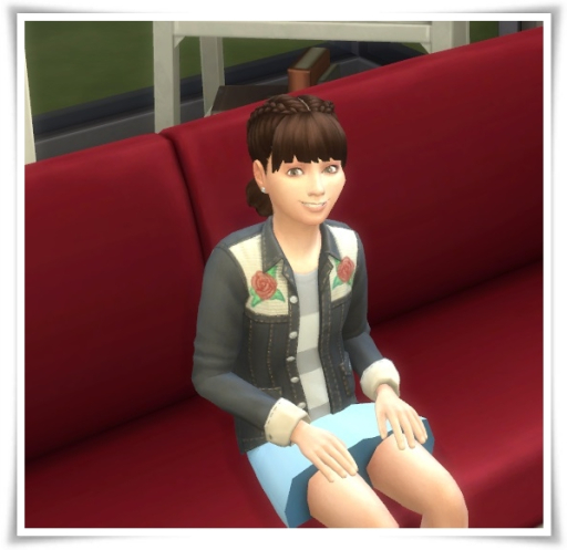 Sims 4 Girl's Braided Buns at Birksches Sims Blog