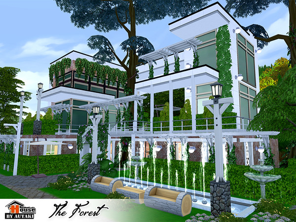 The Forest Eco modern style House by autaki at TSR image 8101 Sims 4 Updates