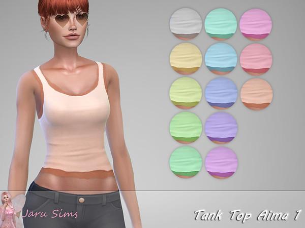 Sims 4 Tank Top Aima 1 by Jaru Sims at TSR