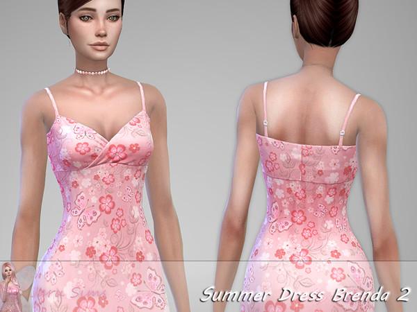 Sims 4 Summer Dress Brenda 2 by Jaru Sims at TSR