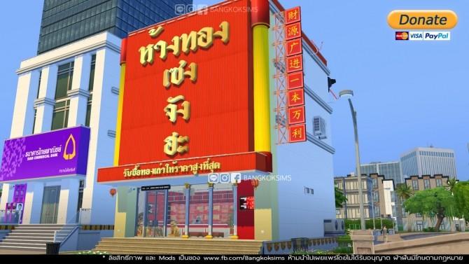 Sims 4 Yaowarat Gold Shop in Thailand (P) at BangkokSims