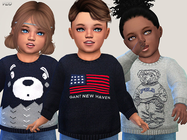 Cute Sweaters For Toddlers by Pinkzombiecupcakes at TSR image 842 Sims 4 Updates