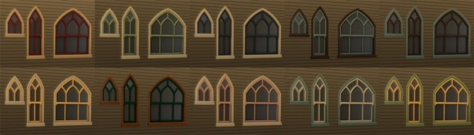 Stranger Gothic windows at Alexpilgrim image 844 670x192 Sims 4 Updates