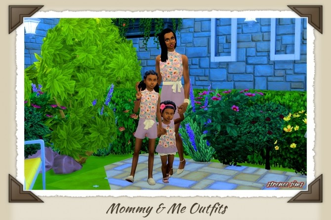 Mommy & Me Outfits at Strenee Sims image 8511 670x447 Sims 4 Updates