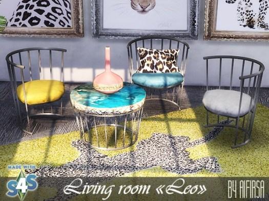 Sims 4 Leo living room at Aifirsa