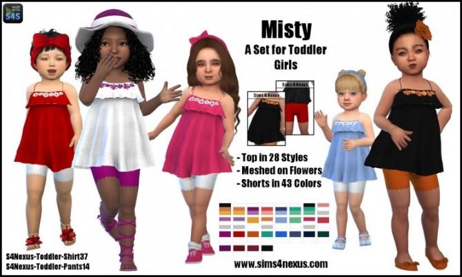 Sims 4 Misty top and shorts by SamanthaGump at Sims 4 Nexus