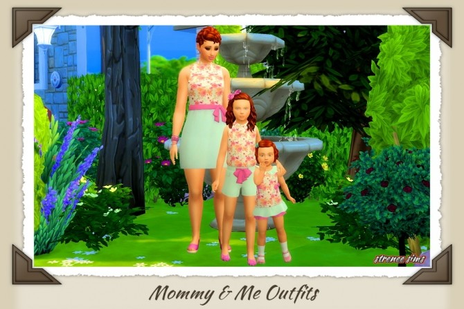 Mommy & Me Outfits at Strenee Sims image 8611 670x447 Sims 4 Updates