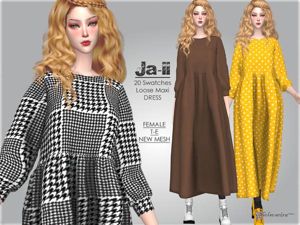 Sims 4 JAII Loose Dress by Helsoseira at TSR