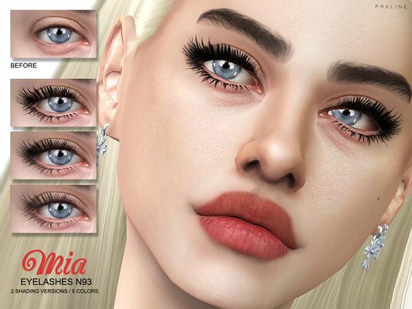 Sims 4 Mia Eyelashes N93 by Pralinesims at TSR