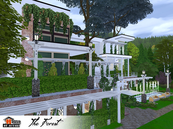 The Forest Eco modern style House by autaki at TSR image 9102 Sims 4 Updates