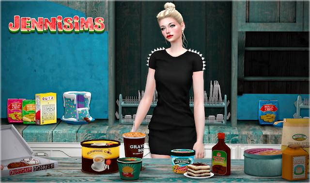 Sims 4 Bon Appetit Decorative set for Clutter Kitchen 14 Items at Jenni Sims
