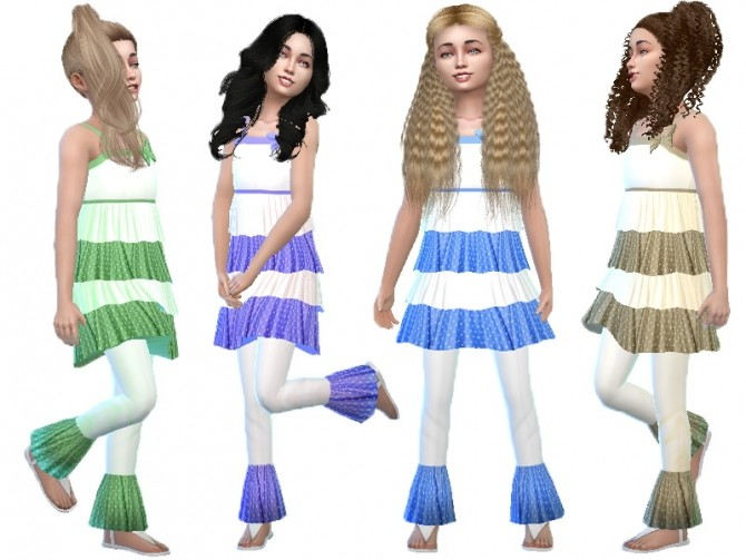 Frill dress and pants for girls at Trudie55 image 9218 670x503 Sims 4 Updates