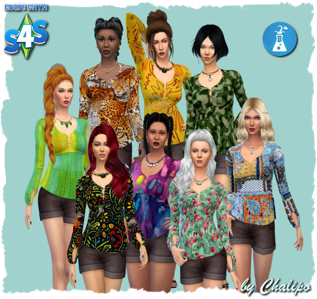Stranger top by Chalipo at All 4 Sims image 9317 Sims 4 Updates