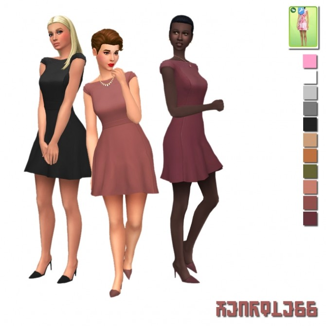 Heartless Seasons Dress Override at Alexpilgrim image 934 670x670 Sims 4 Updates