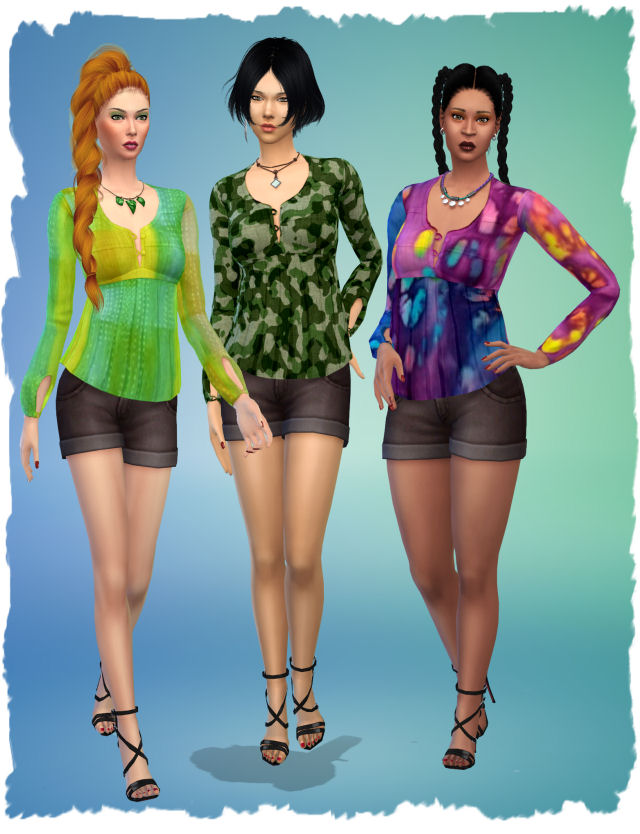 Stranger top by Chalipo at All 4 Sims image 9415 Sims 4 Updates