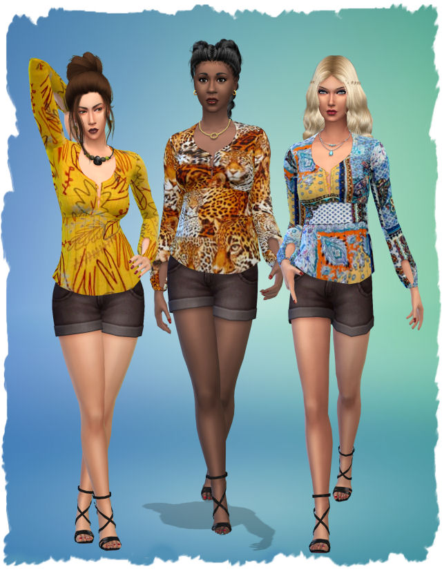 Stranger top by Chalipo at All 4 Sims image 9516 Sims 4 Updates