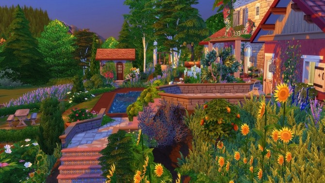 Sims 4 Les Romarins house by Angerouge at Studio Sims Creation