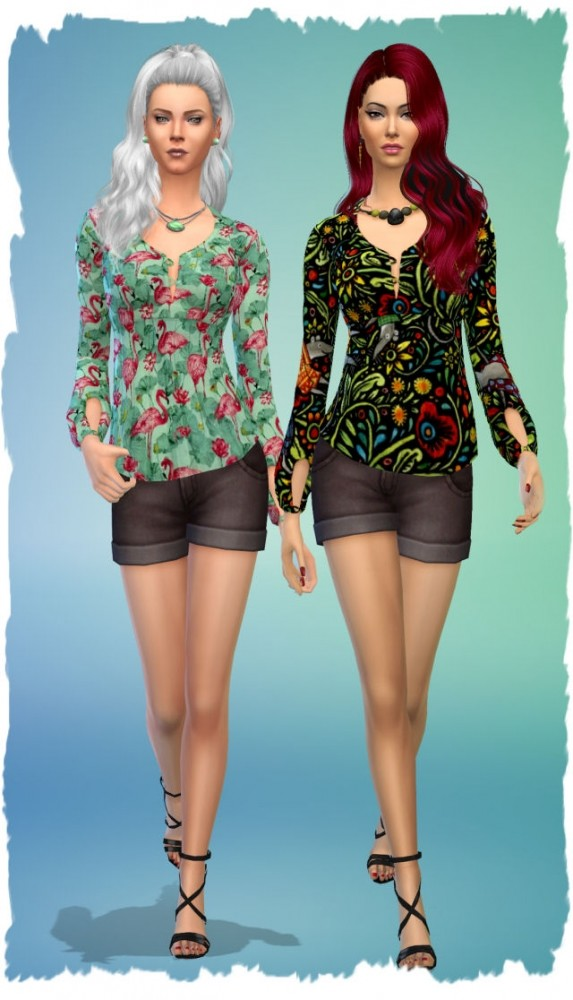 Stranger top by Chalipo at All 4 Sims image 9616 573x1000 Sims 4 Updates