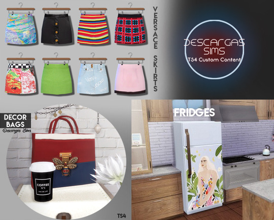 Decor bags, skirts and fridge (P) at Descargas Sims image 973 Sims 4 Updates