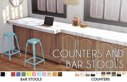Sims 4 Counters and Bar Stools at Descargas Sims