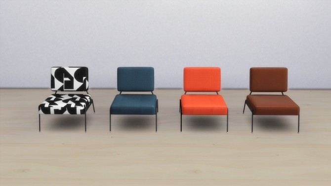 Sims 4 KNOX ACCENT CHAIR (P) at Meinkatz Creations