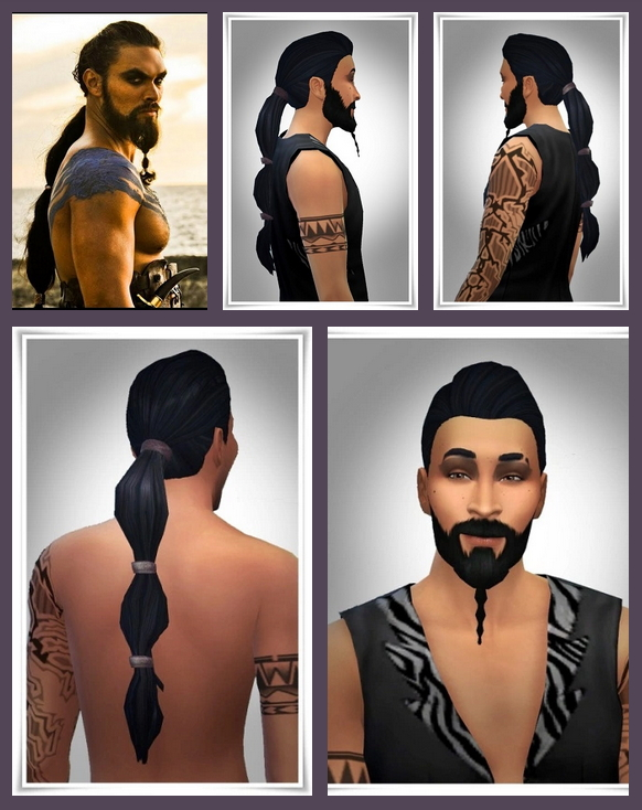 Sims 4 Drogo New Ponytail at Birksches Sims Blog