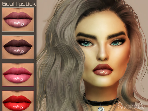 Sims 4 Goal lipstick by Sharareh at TSR