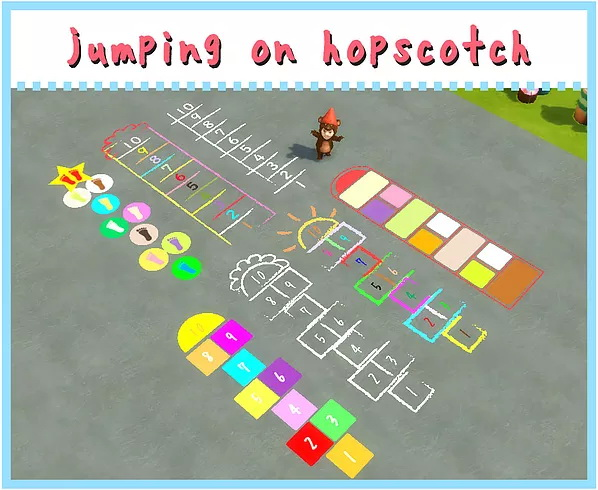 Sims 4 Jumping on hopscotch Carpet at A luckyday