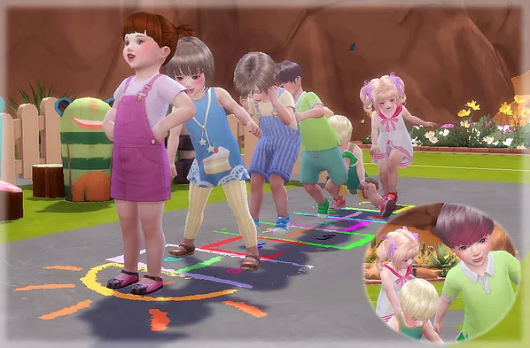 Jumping On Hopscotch Pose at A luckyday image 1039 Sims 4 Updates