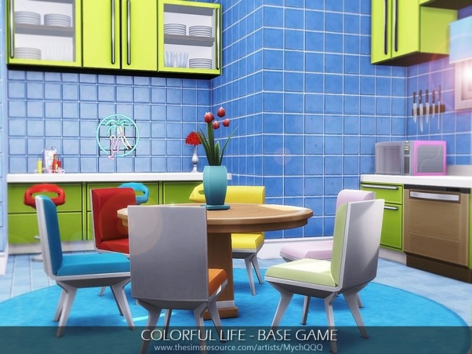 Sims 4 Colorful Life House by MychQQQ at TSR