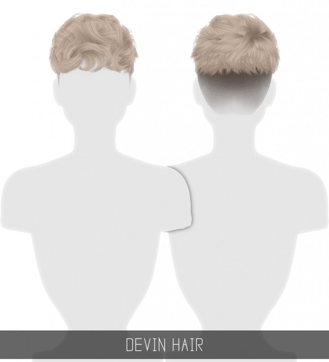 Sims 4 DEVIN HAIR all ages at Simpliciaty