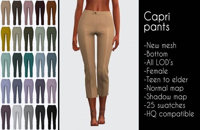 Sims 4 Capri pants at LazyEyelids