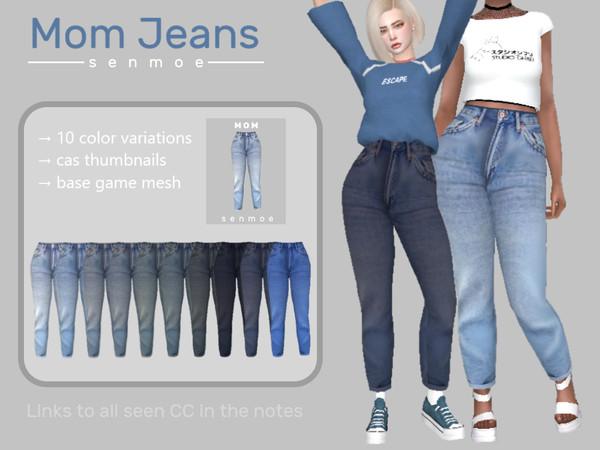 Sims 4 Mom Jeans by Senmoe at TSR