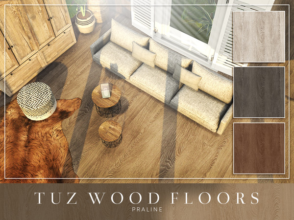 Sims 4 TUZ Wood Floors by Pralinesims at TSR
