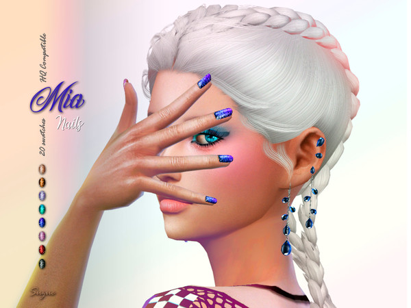 Mia Nails by Suzue at TSR image 11105 Sims 4 Updates
