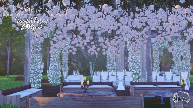 RUSTIC FOREST WEDDING VENUE at Milja Maison image 11111 670x377 Sims 4 Updates