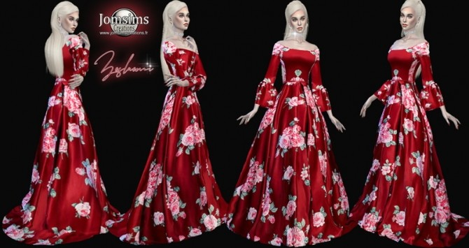Sims 4 Zeslaemi dress at Jomsims Creations