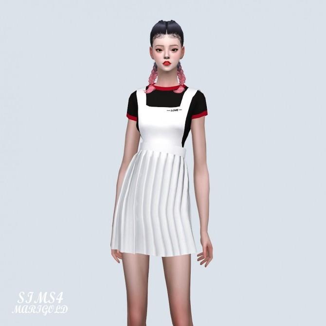 Sims 4 Suspender Pleats Mini Dress (P) at Marigold