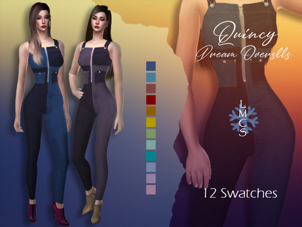 Sims 4 LMCS Quincy Dream Overalls by Lisaminicatsims at TSR