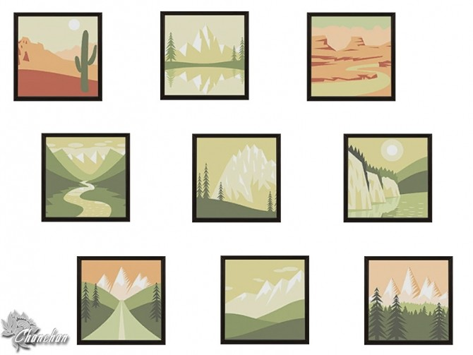 Sims 4 Between Forest and Desert paintings by Chanchan24 at Sims Artists