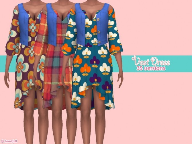 Sims 4 Vest dress at Heartfall